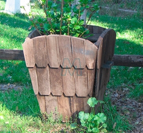 only-creosoted planter